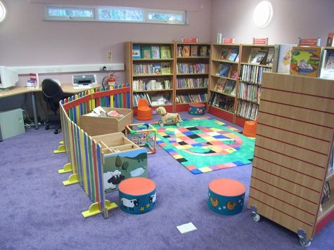 Children\\'s corner at the Library