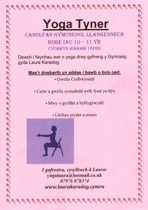 Yoga in the the Welsh medium