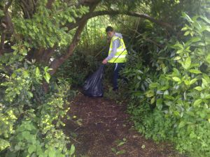 Village clean-up in May 2014 - Youth Club 1