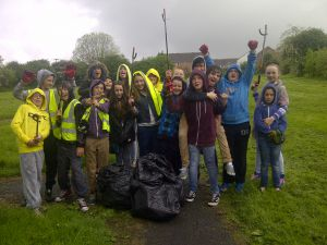 Village clean-up in May 2014 - Youth Club 3